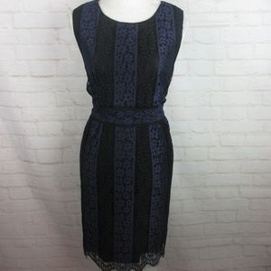 Sophie Max women's size M Navy Blue and Black Lace